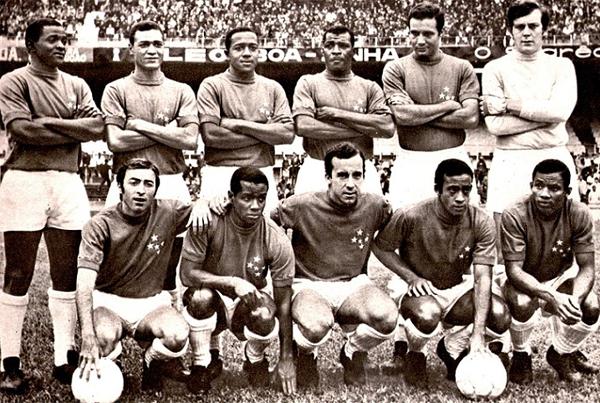 Cruzeiro en el año de su primera conquista, con figuras de la talla de Piazza y Tostao (Foto: atleticoxcruzeiroraridades.com)