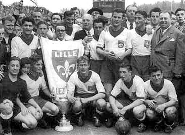 Lille siguió por la senda triunfal en las temporadas 1947 y 1948 (Foto: losc.fr)