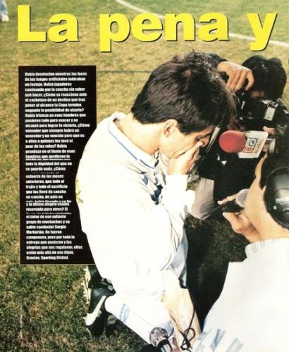 Su lamento fue el de todo un país (Foto: revista Once)