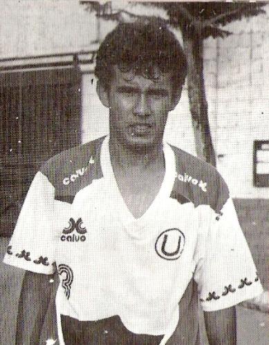 La primera foto en el Lolo Fernández, en su primer entrenamiento con huestes cremas en enero de 1993 (Foto: revista Estadio)