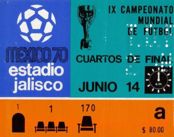 La entrada al partido Brasil - Perú en el estadio Jalisco (Imagen: lt-footballprogrammes.co.uk)