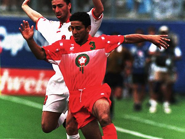Abdelkrim El Hadrioui disputó el Mundial Estados Unidos 1994 con Marruecos. Ese lugar pudo haber sido de Zambia (Foto: AFP)
