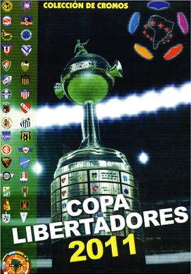 La tapa del álbum en el debut de la Libertadores como álbum de colección (Cromo: editorial Nuevo Siglo)