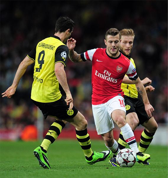 Jack Wilshere es una de las emergentes estrellas con las que cuenta Arsenal que deslumbra con su fútbol en Inglaterra y Europa (Foto: AFP)