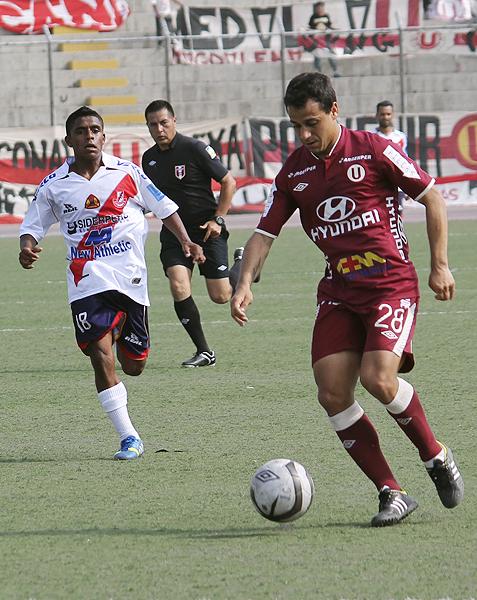 Ronaldinho Alvarado aún no ocupa los primeros planos en la cancha, pero solo por el nombre ya se gana un espacio en los medios (Foto: Héctor Inti / Diario de Chimbote)