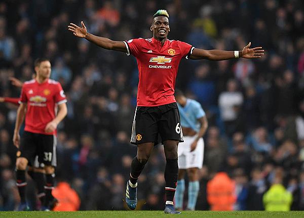 Paul Pogba celebra con el Manchester United. (Foto: AFP)