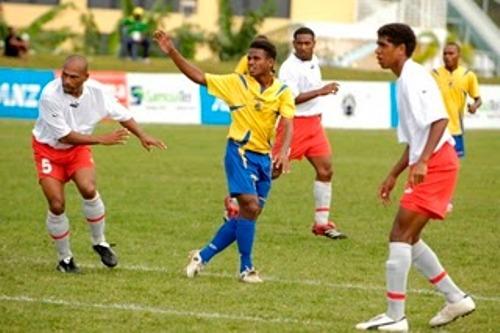 Islas Salomón y Nueva Caledonia se enfrentaron en los últimos juegos del Pacífico que se disputaron en Samoa en 2007 (Foto: fútbolentreselecciones.blogspot.com)