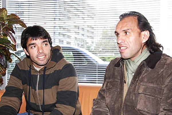 Martín Cardetti y Carlos Navarro Montoya, argentinos que estuvieron un tiempo como inversores del Boston River (Foto: Últimas Noticias)