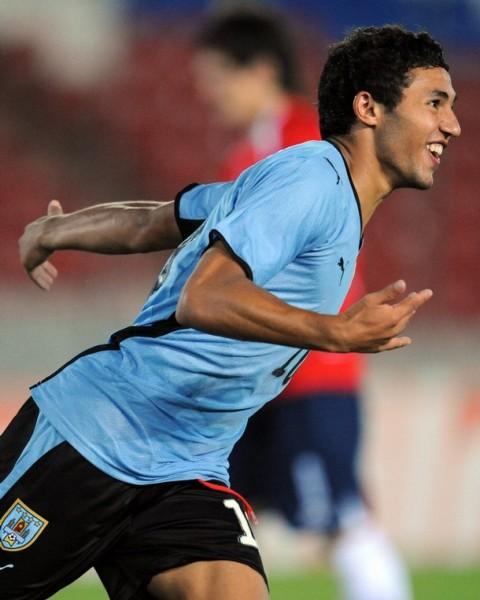 Viudez, el símbolo del fuerte equipo uruguayo (Foto: AFP)