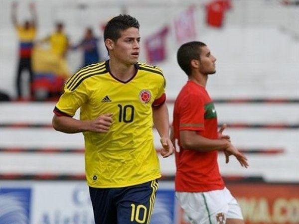 James Rodríguez, actual jugador del Porto, es una de las principales atracciones de Colombia, el anfitrión (Foto: AP)