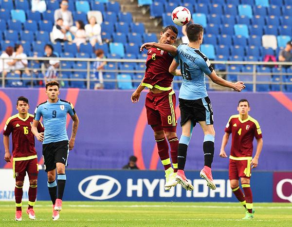 Uruguay alcanzó la semifinal, pero justo se topó ante la sorprendente Venezuela. (Foto: AFP)