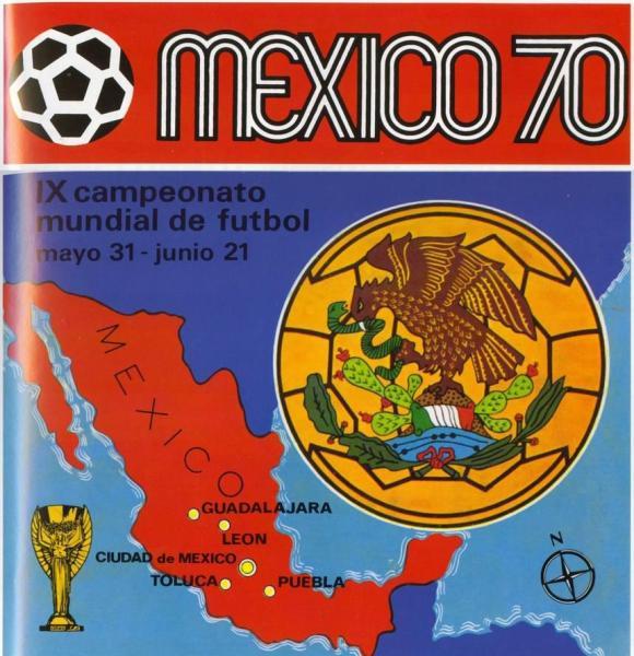 La portada del álbum de México 1970, el primero lanzado por la prestigiosa editorial italiana Panini para un Mundial de la FIFA (Recorte: World Cup Panini Collections 1970-1994, Franco Cosimo Panini Editore)
