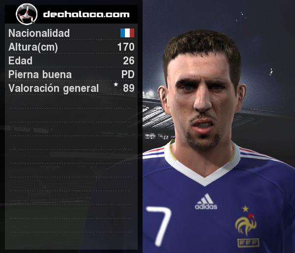Ribéry y sus desbordes fueron lo más peligroso de una simulación vibrante (Imagen: PES Edit / Edición: Peru Evolution Soccer)