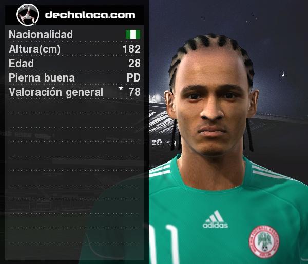 Odemwingie fue el más insistente en una Nigeria que nunca bajó los brazos (Imagen: PES Edit / Edición: Peru Evolution Soccer)