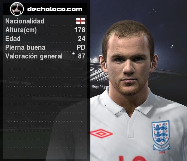 Aparte de su característico olfato goleador, Wayne Rooney tuvo una labor excepcional en todo el frente de ataque. Por ello, fue el mejor en la simulación (Imagen: PES Edit / Edición: Peru Evolution Soccer)