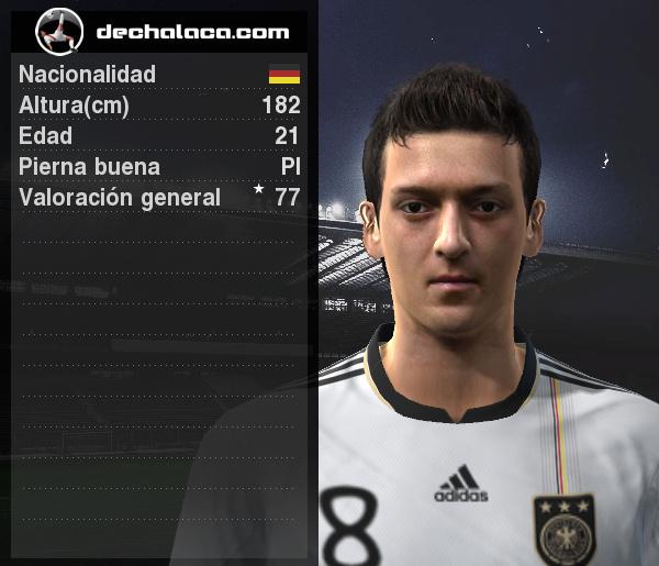 En estrecha simultaneidad con Khedira, Özil acabó siendo lo mejor de Alemania en la estrepitosa goleada (Imagen: PES Edit / Edición: Peru Evolution Soccer)