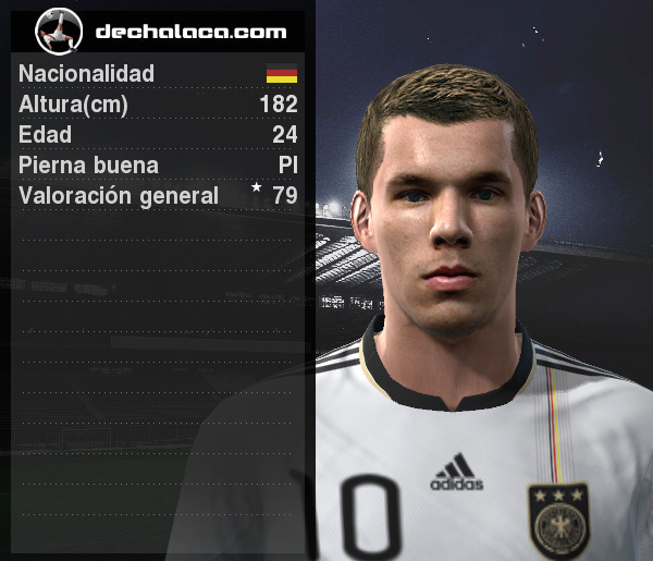 Podolski anotó un gol en dudosa posición, pero fue vital para la victoria germana (Imagen: PES Edit / Edición: Peru Evolution Soccer)