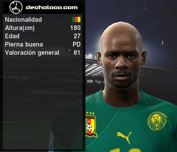 Achille Emana recibió la confianza en la simulación y su aporte al ataque camerunés fue determinante para la goleada (Imagen: PES Edit / Edición: Peru Evolution Soccer)