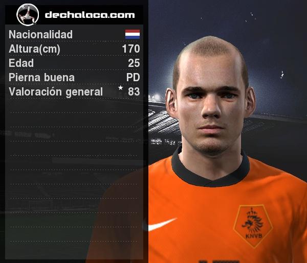 Wesley Sneijder fue el mejor jugador del partido: convirtió el empate que se conservó en los 120' y en la tanda de penales estuvo infalible (Imagen: PES Edit / Edición: Peru Evolution Soccer)