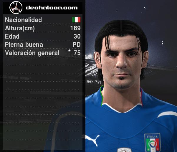 Iaquinta fue figura, pero no pudo clasificar a Italia (Imagen: PES Edit / Edición: Peru Evolution Soccer)