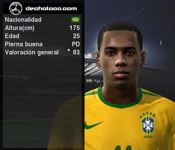 Robinho tuvo su gran jornada en el simulador: convirtió los dos goles con que su selección superó a Chile y se metió a Cuartos (Imagen: PES Edit / Edición: Peru Evolution Soccer)