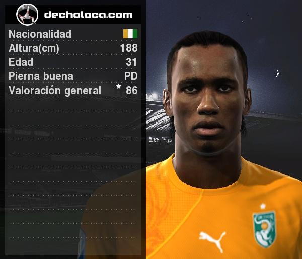 Drogba no necesita carta de presentación: la muestra cada vez que cobra (Imagen: PES Edit / Edición: Peru Evolution Soccer)
