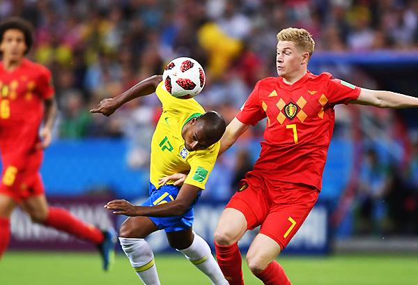 El gol de Kevin de Bruyne sentenció la historia en Kazán. (Foto: FIFA)