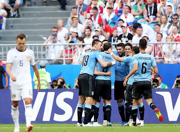 Uruguay le ganó a Rusia demostrando toda su jerarquía. (Foto: FIFA)