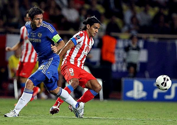Por la Supercopa 2012, y con un Falcao inspirado, Atlético Madrid derrotaba 4-1 al Chelsea (Foto: AFP)