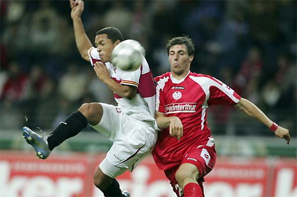 La Copa UEFA 2005/06 para Sevilla comenzó con una victoria sobre Mainz (Foto: AFP)