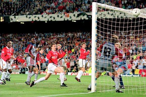 Gol de Ole Gunnar Solksajer al Bayern Munich en la inolvidable final de Champions de 1999-2000 (Foto: dailymail.co.uk)