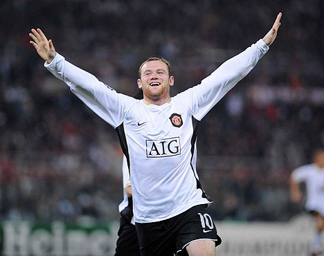 Rooney no falló y celebró en el Olímpico (Foto: dailymail.co.uk)