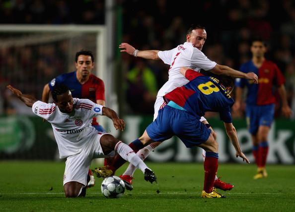 Como en 2009, Bayern y Barcelona se vuelven a ver las caras en una instancia decisiva en Champions. Aquella vez la diferencia cule -en cuartos- fue aplastante (Foto: eldescafeinado.com)
