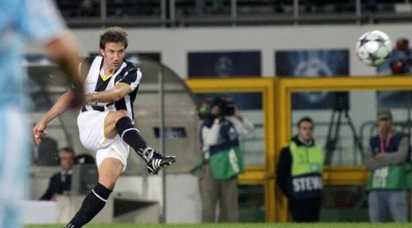 La pintura de Del Piero para clavar el balón en el fondo de las redes del Zenit (Foto: juventus.com)
