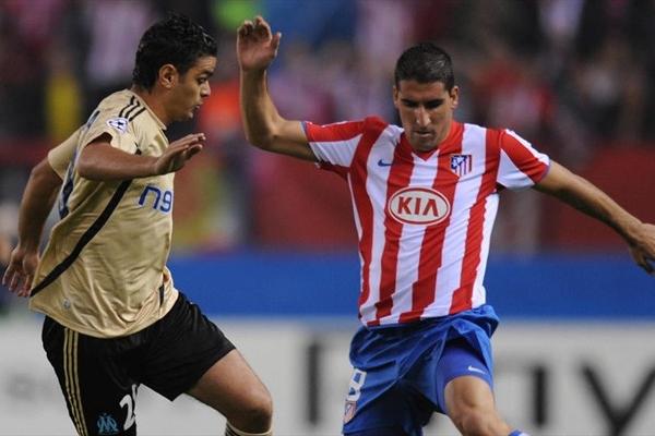 Raúl García apareció en una faceta poco habitual en él: de cara al gol para darle al 'Aleti' su segunda victoria en esta Champions (Foto: UEFA.com)