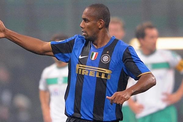 Maicon tuvo que subir al ataque para hacer el único gol del Inter ante el Bremen (Foto: UEFA.com)