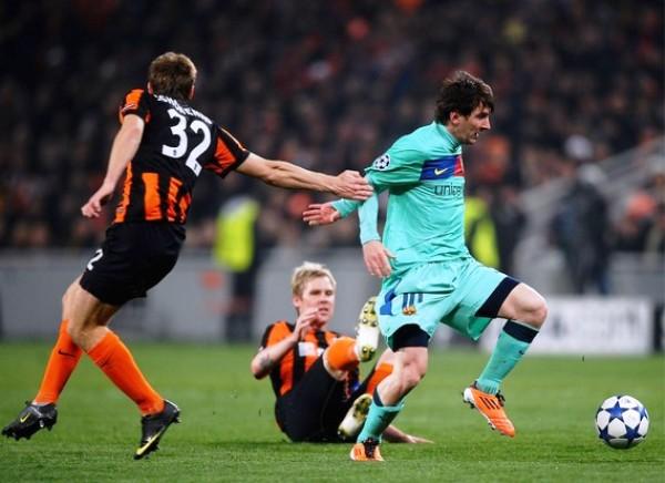 YA ES COSTUMBRE. Messi fue imparable en Ucrania. La 'Pulga' marcó el único tanto del Barcelona en el encuentro de vuelta. (Foto: AFP)