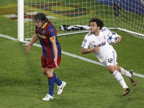 NO SIRVIÓ DE NADA. El tanto de Marcelo sólo le puso un poco de picante a los últimos 25 minutos. No obstante, el Real Madrid fue incapaz de conseguir más goles y tuvo que resignarse con el 1-1. (Foto: REUTERS)