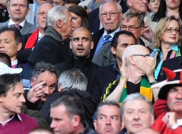 EL ESPÍA. Josep Guardiola estuvo en el Old Trafford viendo a su rival en la final en Wembley. (Foto: AP)