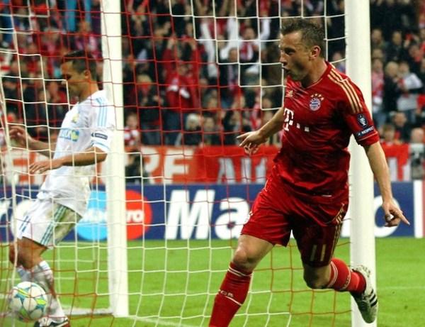 LA JOYITA. Un letal contraataque comandado por Franck Ribery con ayuda de Alaba, terminó en un estupendo gol por la concepción que Olic finalizó. (Foto: AP)