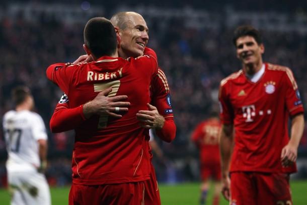 Bayern Munich, apoyado en su tres ases -Ribery, Robben y Gómez- es favorito para eliminar al Marsella y soñar con el camino a una final que se jugará en su estadio (Foto: AFP)