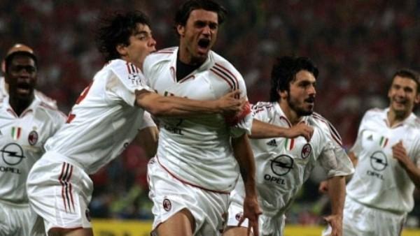 Paolo Maldini sólo anotó un gol pese a jugar ocho finales de Champions. Eso sí, su gol es el más rápido anotado en un final. (Foto: Uefa.com)