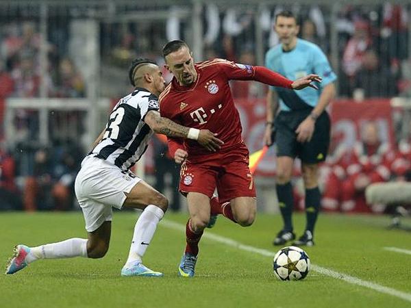 Franck Ribéry fue la mayor preocupación que tuvo la Juventus por lo prendido que estuvo el francés en el juego (Foto: AFP)