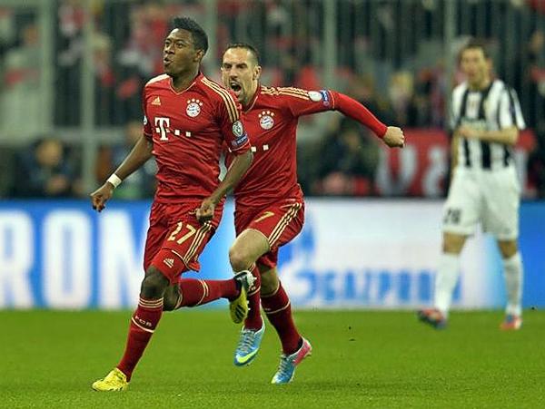 Ni tiempo para pestañear dio David Alaba en Munich ya que ni con un minuto de juego puso delante en el marcador al Bayern (Foto: AFP)