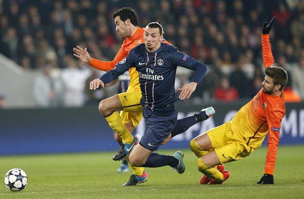Barcelona tuvo muchos problemas para contener a Zlatan Ibrahimovic, que reapareció en la Champions luego de superar una sanción (Foto: AFP)