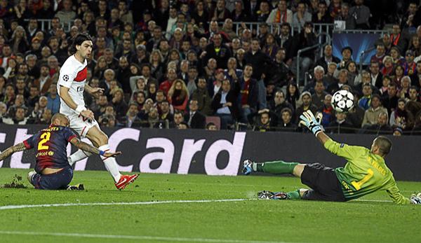 PSG tuvo argumentos en el Camp Nou para pelearle la clasificación al Barcelona, llegando a complicarle el panorama a los españoles con el tanto que Javier Pastore anotó (Foto: Reuters)