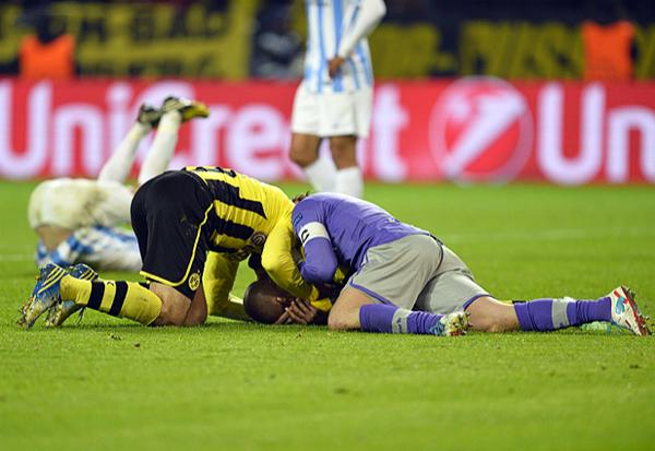 El éxtasis se apoderó de Dortmund luego que Felipe Santana anotara el gol de su clasificación, tanto que dejó patas arriba el sueño del Málaga que se quedó a segundos de cumplir su objetivo (Foto: AFP)