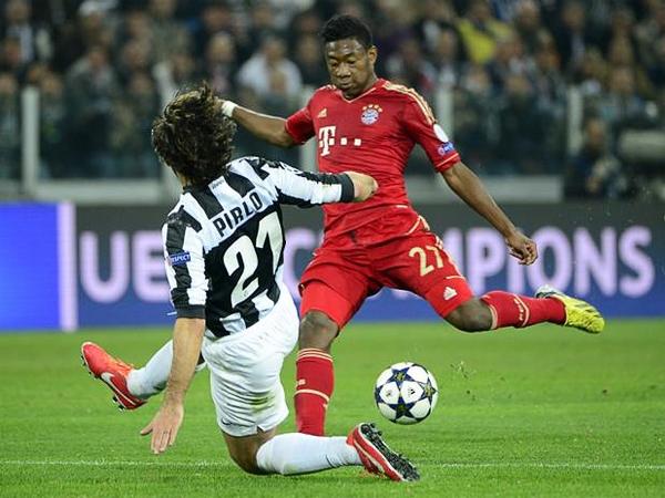 Tal como en el partido de ida, David Alaba tuvo activa participación en el juego ofensivo del Bayern al mostrarse como salida constante por su sector (Foto: AFP)