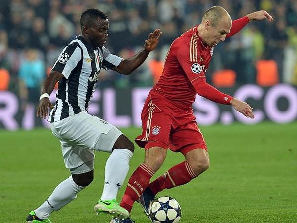 Arjen Robben fue bien controlado por la Juventus por lo que fue poco lo que se vio del holandés y sus acostumbrados desbordes (Foto: AFP)