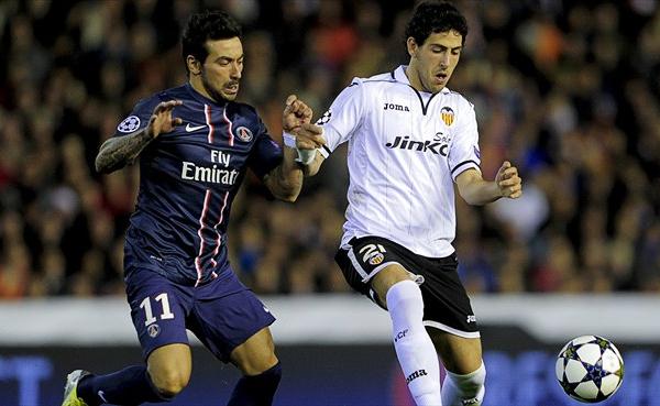 Javier Pastore acabó por darle la victoria al PSG con un gol que fue un duro golpe para el Valencia a poco de culminar la primera etapa (Foto: AFP)
